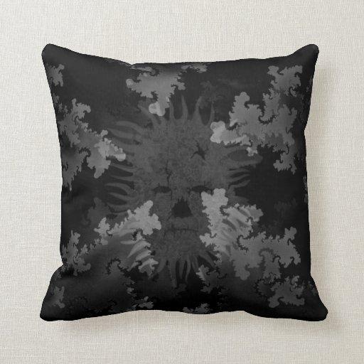 Grey Scale Spirit in Fractals Pillows