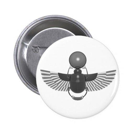 Grey Scarab Button