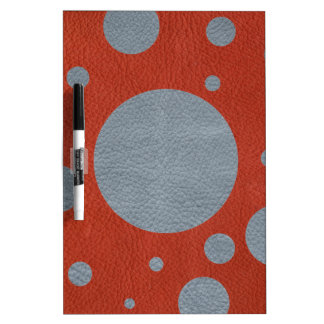 Grey Scattered Spots on Red Leather Texture Dry Erase Board