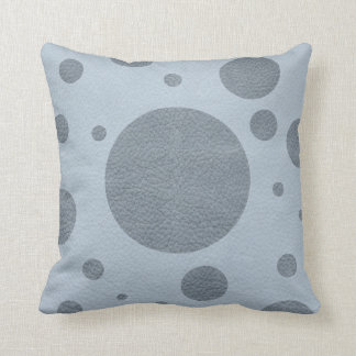 Grey Scattered Spots on Sky Blue Pillow