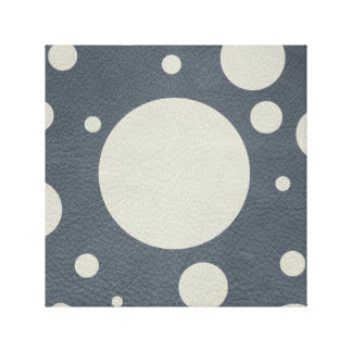 Grey Scattered Spots on Stone Leather print