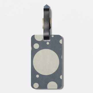Grey Scattered Spots on Stone Leather print Bag Tag