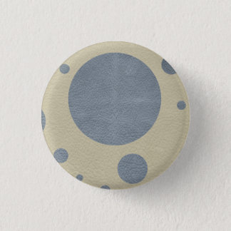 Grey Scattered Spots on Stone Leather print Button