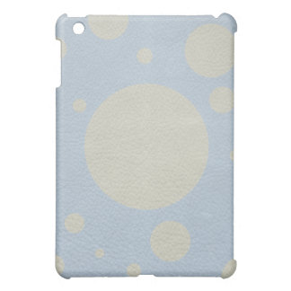 Grey Scattered Spots on Stone Leather print Cover For The iPad Mini