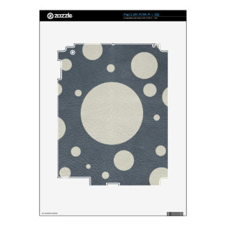 Grey Scattered Spots on Stone Leather print Decal For iPad 2