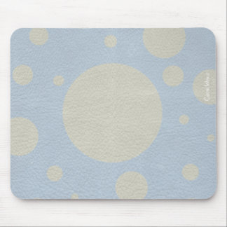 Grey Scattered Spots on Stone Leather print Mouse Pad