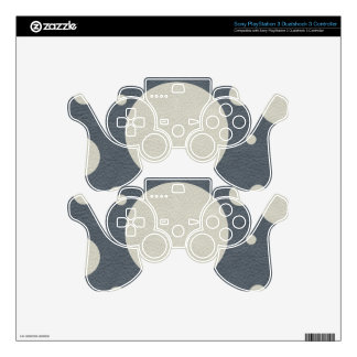 Grey Scattered Spots on Stone Leather print PS3 Controller Skin