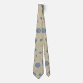 Grey Scattered Spots on Stone Leather print Tie