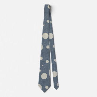 Grey Scattered Spots on Stone Leather Texture Tie