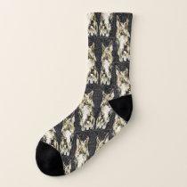 Grey Scotty Patterned Socks