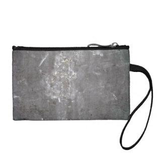 Grey Scratched Metal Texture Change Purse