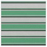 [ Thumbnail: Grey, Sea Green & Black Colored Lines Fabric ]