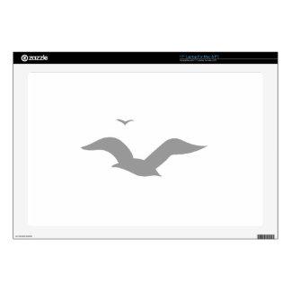 Grey Seagulls Laptop Skins