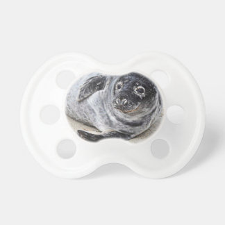 Grey Seal Baby Pacifier