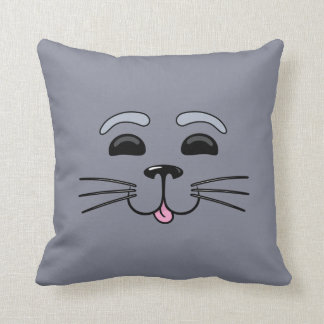 Grey Seal - Cute Cartoon Pillow