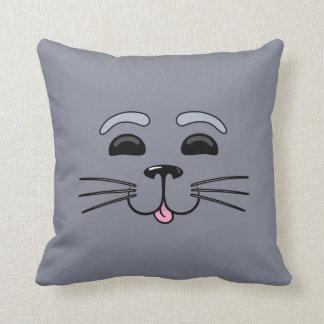 Grey Seal - Cute Cartoon Pillow