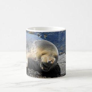 Grey Seal Laughing Mug, so cute Coffee Mug