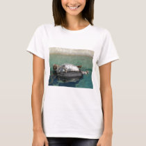 Grey Seal Pair On Rock Portrait T-Shirt
