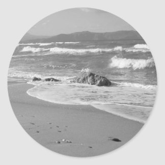 Grey Seascape Stickers