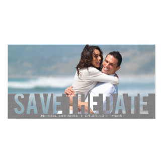 Grey See Through Save the Date Card