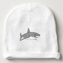 Grey shark baby beanie