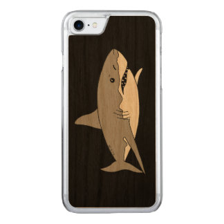 Grey shark carved iPhone 7 case