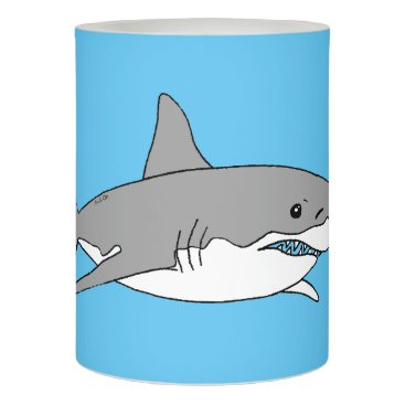 Beach Themed Grey shark flameless candle