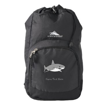 Beach Themed Grey shark high sierra backpack