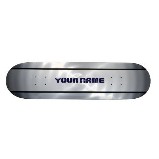 Grey Shiny Stainless Steel Metal 4 Skate Board Decks