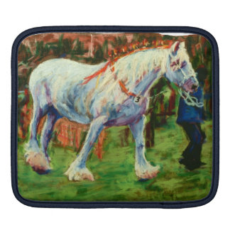 Grey Shire Horse iPad Sleeve