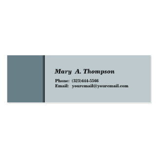 Grey side border Double-Sided mini business cards (Pack of 20)