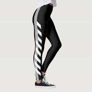 Grey Side Stripe Leggings