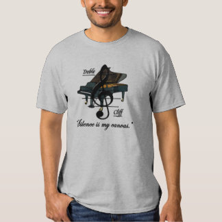 """Grey """"Silence is my canvas."""" T-Shirt"""