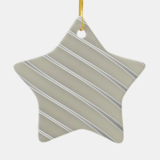 Grey Silver Curved Lines Chic abstract flow Ceramic Ornament