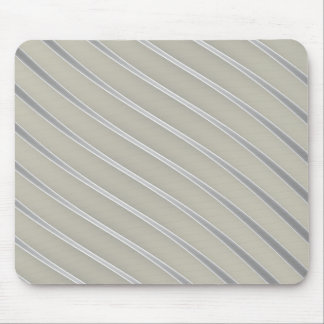 Grey Silver Curved Lines Chic abstract flow Mouse Pad