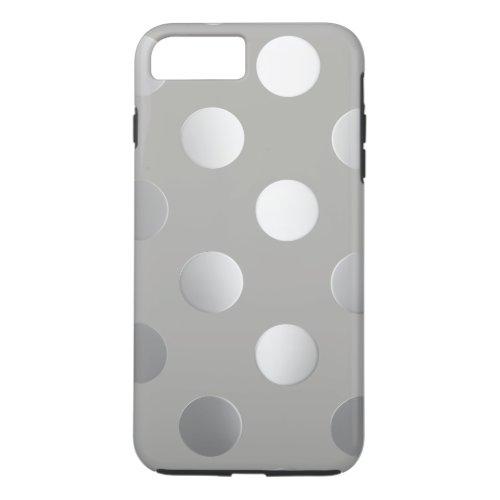 Grey, Silver Polka Dots Phone Case