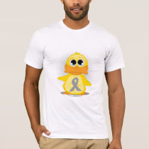 Grey/Silver Ribbon Duck T-Shirt