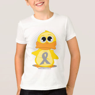 Grey/Silver Ribbon Duck T-Shirt