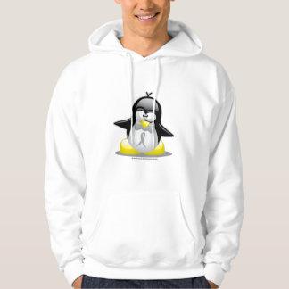 Grey/Silver Ribbon Penguin Hooded Pullover