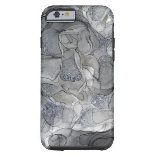 Grey silver sparkle dreams iPhone case