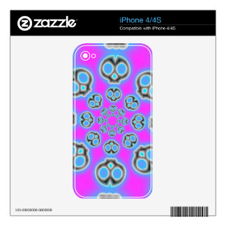 Grey Skies Alien Invasion iphone  4/4S skin Decals For iPhone 4S