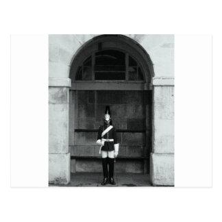 Grey Skies London Guard On Duty, Vintage Style Pri Postcard