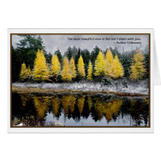 Grey Skies Over Tamarack Bog : Quote Card
