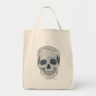 Grey Skull Grocery Tote