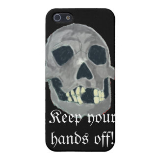 Grey skull iphone Case iPhone 5 Cover