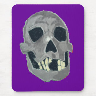 Grey skull mousepad