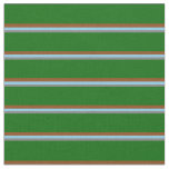 [ Thumbnail: Grey, Sky Blue, Brown & Dark Green Colored Lines Fabric ]