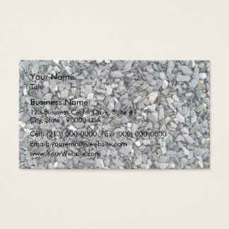 Grey Slate Chips Texture Business Card