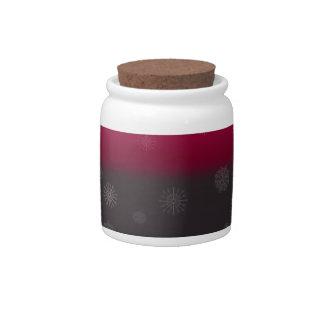 Grey Snow Candy Jar