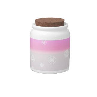 Grey Snow Fade Candy Jars
